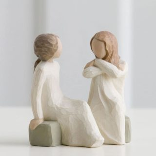 Willow Tree - Heart and Soul Figurine - Open hearts, sharing souls, trusted friends