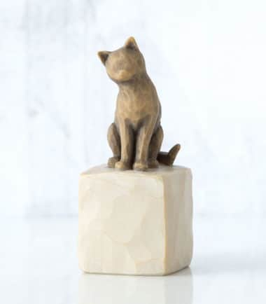 Willow Tree - Love my Cat (dark) Figurine. Gifts for pet owner