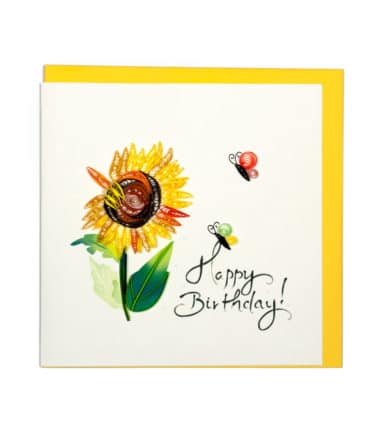 Quilling Card - Sun Flowers - Birthday Card