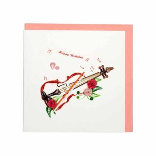Quilling Card - Violin - Birthday Card