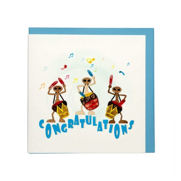 Quilling Card - Ants Playing Music - Congratulation Card - Handmade Card