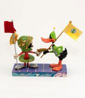 Looney Tunes by Jim Shore - Marvin The Martian and Daffy Duck