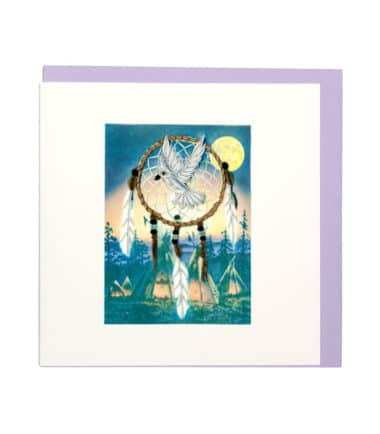 Quilling Card - Dream Catcher - Blank Card