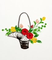 Quilling Card - Flower Bouquet - Blank Card