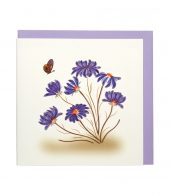 Quilling Card - Purple Daisies - Blank Card
