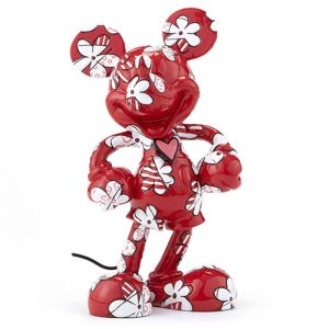 Disney by Britto Mickey Wrapped in Flowers Figurine (Red)