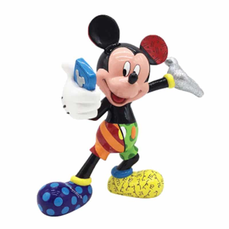 Britto Disney Selfie Mickey Large Figurine, Disney Collectible