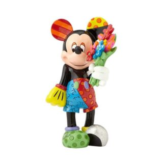 Britto Disney Mickey Mouse with Flower Large Figurine