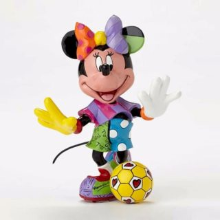 Britto Disney Minnie Mouse Soccer Medium Figurine