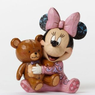 Jim Shore Disney Traditions - Baby's First Minnie Mouse - Bed Time Besties