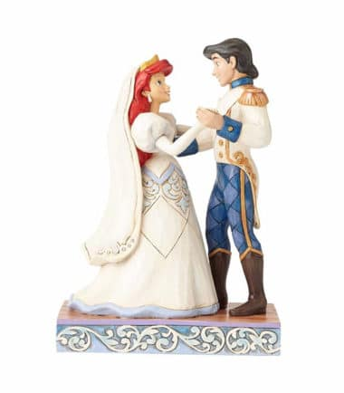 Jim Shore Disney Traditions- Ariel & Prince Eric Wedding Figurine - Wedded Bliss