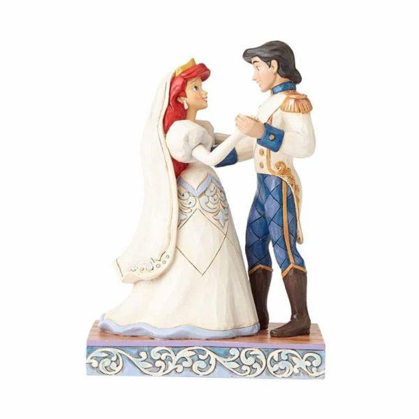 Jim Shore Disney Traditions- Ariel & Prince Eric Wedding Figurine - Wedded Bliss