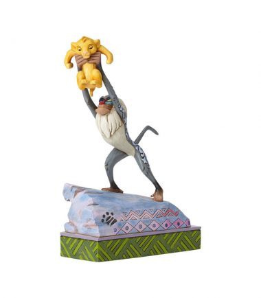 Jim Shore Disney Traditions - Rafiki and Baby Simba - Heir to the Throne