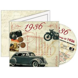 Birthday Gifts or Anniversary Gifts, Classic Years CD Card 1936
