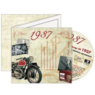 Birthday Gifts or Anniversary Gifts, Classic Years CD Card 1937