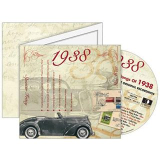 Birthday Gifts or Anniversary Gifts, Classic Years CD Card 1938