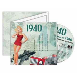Birthday Gifts or Anniversary Gifts, Classic Years CD Card 1940