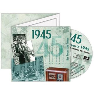 Birthday Gifts or Anniversary Gifts, Classic Years CD Card 1945