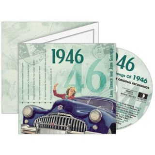 Birthday Gifts or Anniversary Gifts, Classic Years CD Card 1946