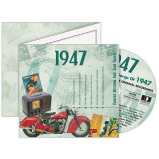 Birthday Gifts or Anniversary Gifts, Classic Years CD Card 1947