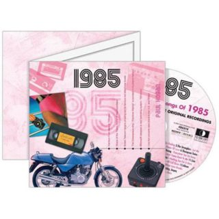 Birthday Gifts or Anniversary Gifts, 1985 Classic Years CD Card