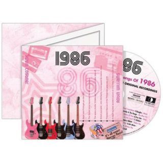 Birthday Gifts or Anniversary Gifts, 1986 Classic Years CD Card