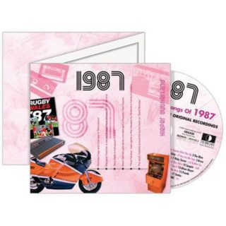 Birthday Gifts or Anniversary Gifts, 1987 Classic Years CD Card