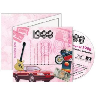 Birthday Gifts or Anniversary Gifts, 1988 Classic Years CD Card