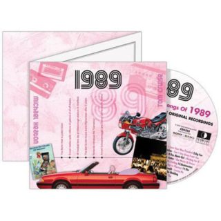 Birthday Gifts or Anniversary Gifts, 1989 Classic Years CD Card