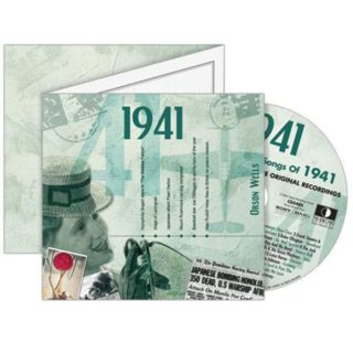 Birthday Gifts or Anniversary Gifts, Classic Years CD Card 1941