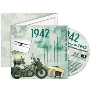 Birthday Gifts or Anniversary Gifts, Classic Years CD Card 1942