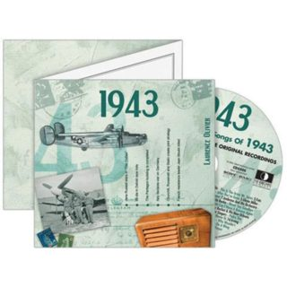 Birthday Gifts or Anniversary Gifts, Classic Years CD Card 1943