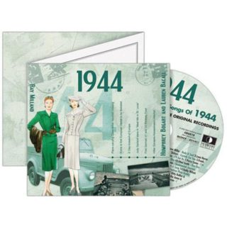 Birthday Gifts or Anniversary Gifts, Classic Years CD Card 1944