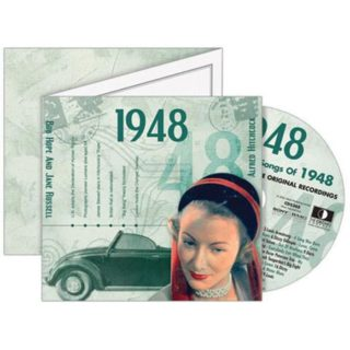 Birthday Gifts or Anniversary Gifts, Classic Years CD Card 1948