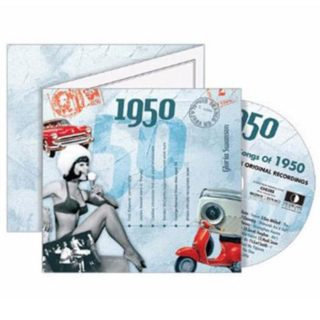 Birthday Gifts or Anniversary Gifts, Classic Years CD Card 1950
