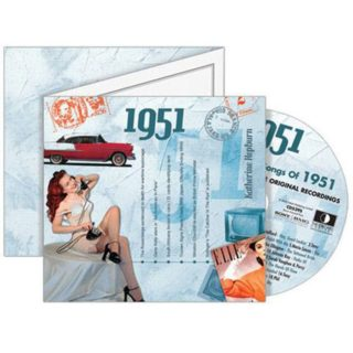 Birthday Gifts or Anniversary Gifts, 1951 Classic Years CD Card