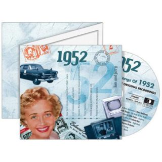 Birthday Gifts or Anniversary Gifts, 1952 Classic Years CD Card