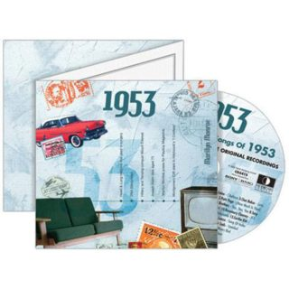 Birthday Gifts or Anniversary Gifts, 1953 Classic Years CD Card