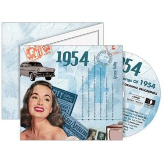 Birthday Gifts or Anniversary Gifts, 1954 Classic Years CD Card