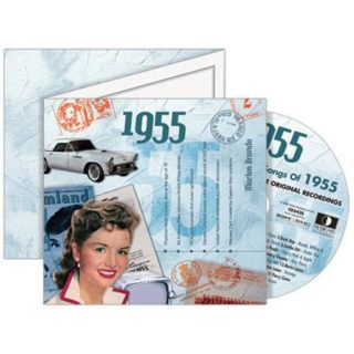 Birthday Gifts or Anniversary Gifts, 1955 Classic Years CD Card