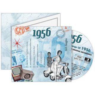 Birthday Gifts or Anniversary Gifts, 1956 Classic Years CD Card