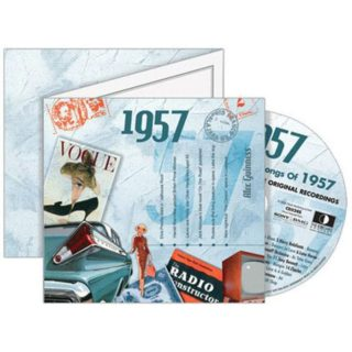 Birthday Gifts or Anniversary Gifts, 1957 Classic Years CD Card