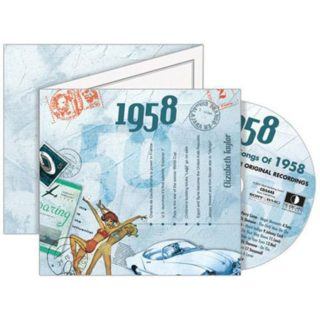 Birthday Gifts or Anniversary Gifts, 1958 Classic Years CD Card