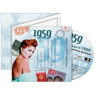 Birthday Gifts or Anniversary Gifts, 1959 Classic Years CD Card