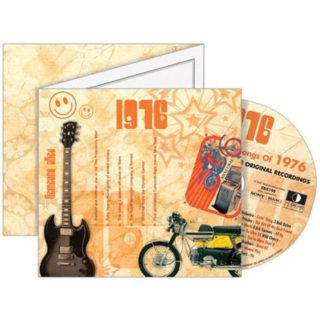 Birthday Gifts or Anniversary Gifts, 1976 Classic Years CD Card