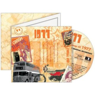Birthday Gifts or Anniversary Gifts, 1977 Classic Years CD Card