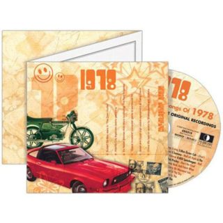 Birthday Gifts or Anniversary Gifts, 1978 Classic Years CD Card