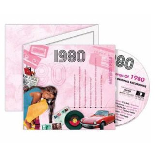Birthday Gifts or Anniversary Gifts, 1980 Classic Years CD Card