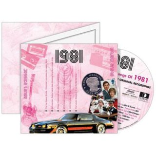 Birthday Gifts or Anniversary Gifts, 1981 Classic Years CD Card