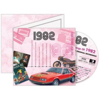 Birthday Gifts or Anniversary Gifts, 1982 Classic Years CD Card